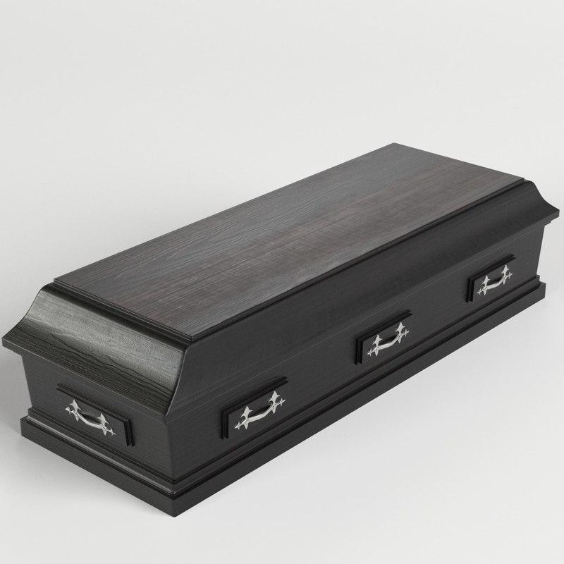 3D dark closed coffin model