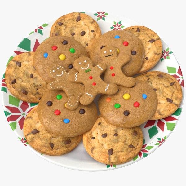 3D model cookies plate