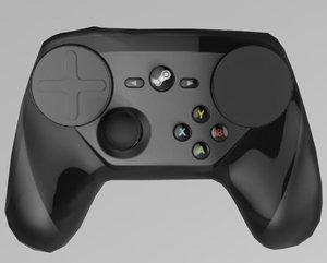 3D steam controller model