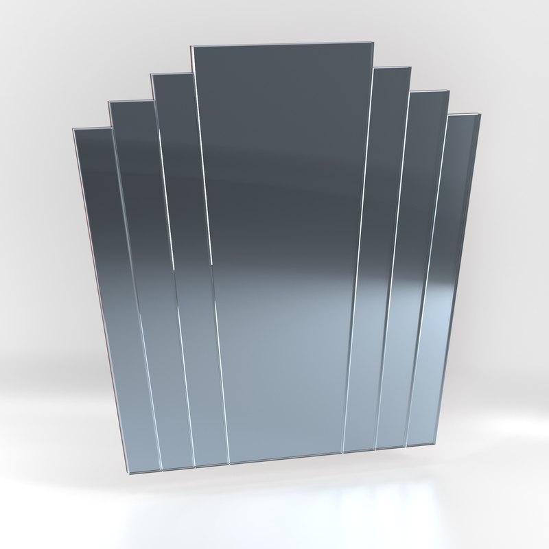 art deco mirror 3D model