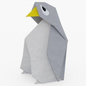 origami penguin 3D
