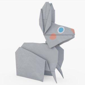origami rabbit 3D model