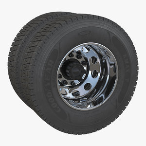 truck rear wheels 3D model
