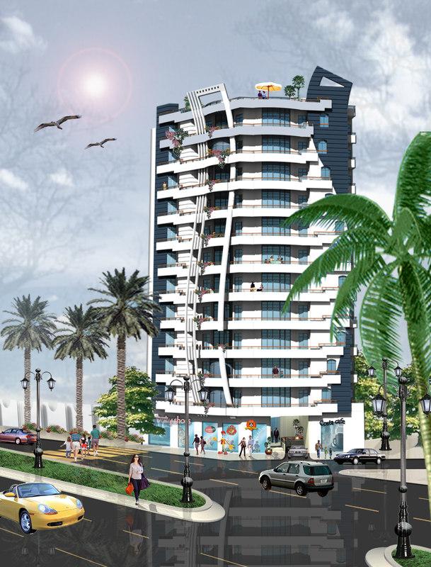 3D modern tower