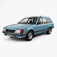 3D model holden commodore wagon