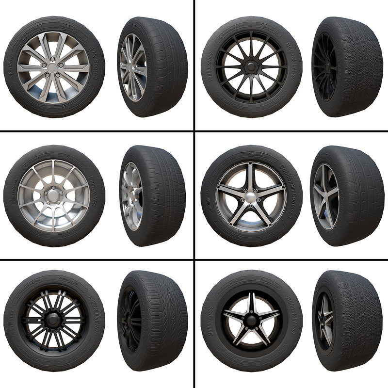 pack 6 alloy wheels model