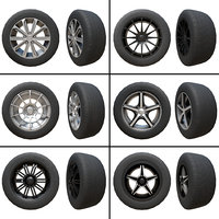 Pack of Tyres and Alloys (6 Alloy Wheels + 5 Tyre Textures)