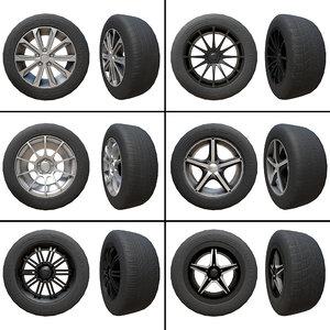 pack 6 alloy wheels model