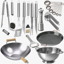 Stainless and Carbon Steel Kitchenware