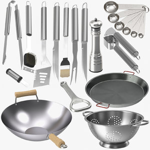 3D model stainless carbon steel kitchenware