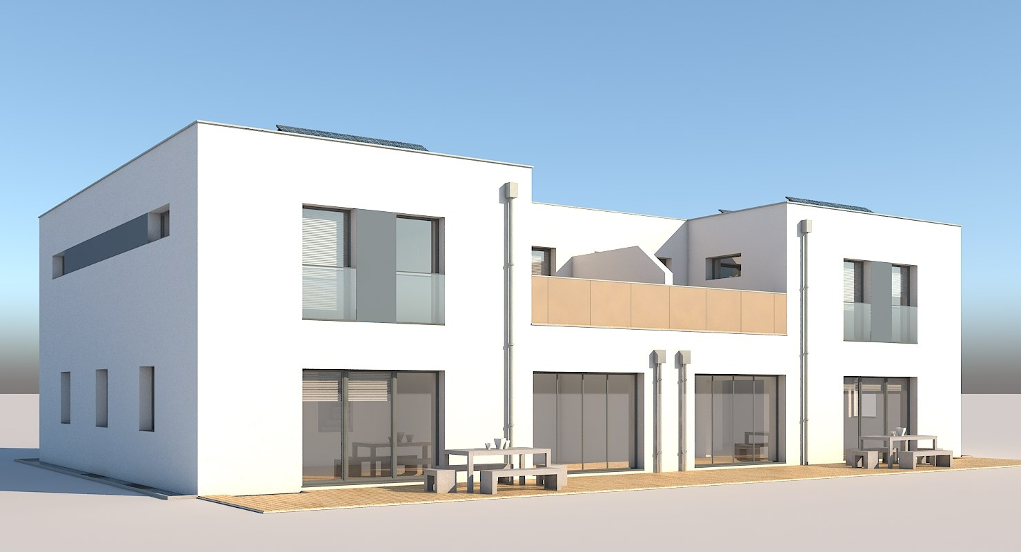 3D apartment building model