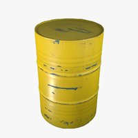 oil barrel use contain 3D model