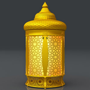 ottoman golden lantern 3D model