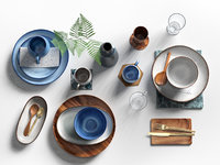 3D tableware set bloomingville model