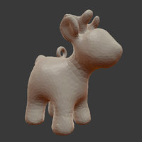 3D cartoon deer stl medium model