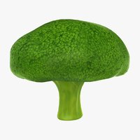 cartoon broccoli 3D model