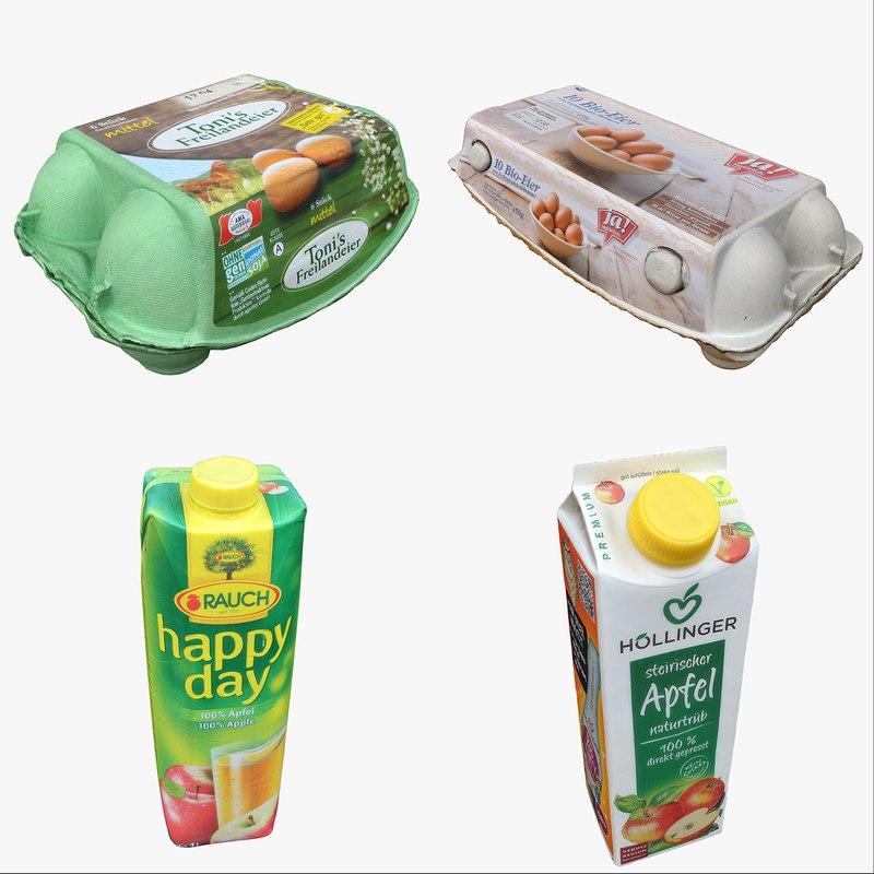 3D food drink cartons