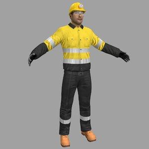 miner safety worker 3D