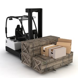 3D model loader warehouse