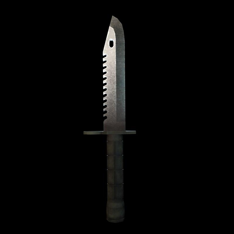 bayonet combat knife 3D model