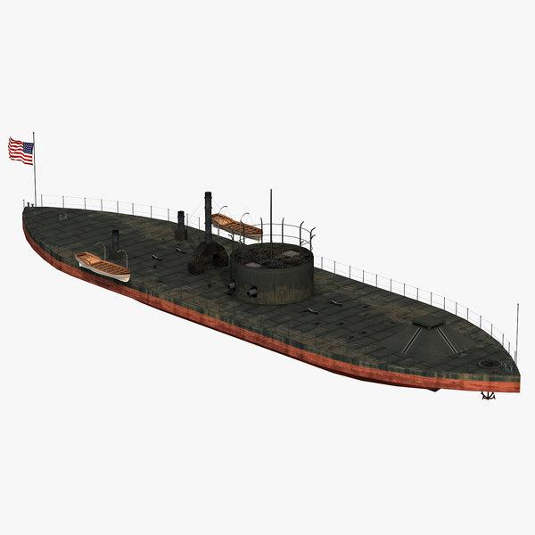 uss monitor 3D model