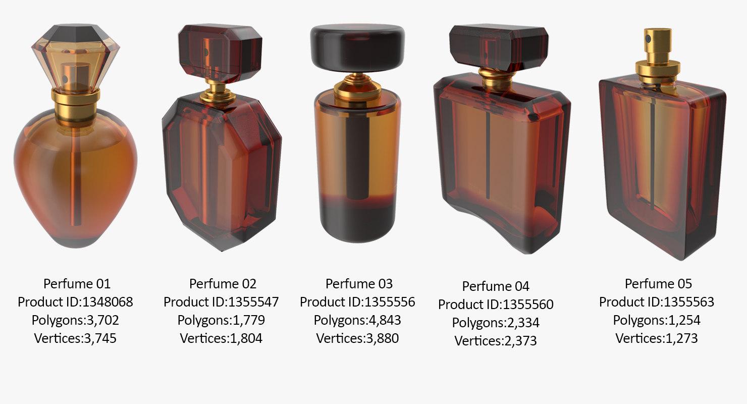 3D photorealistic perfume bottle 01
