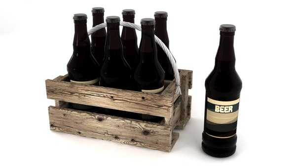 3D wooden box beer