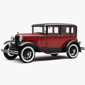 3D 1929 fordor sedan model