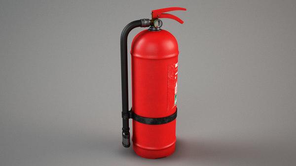 extinguisher subdivision 3D model