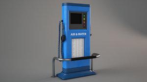 air water station kiosk 3D
