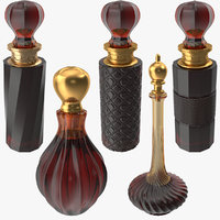 3D photorealistic perfume bottle