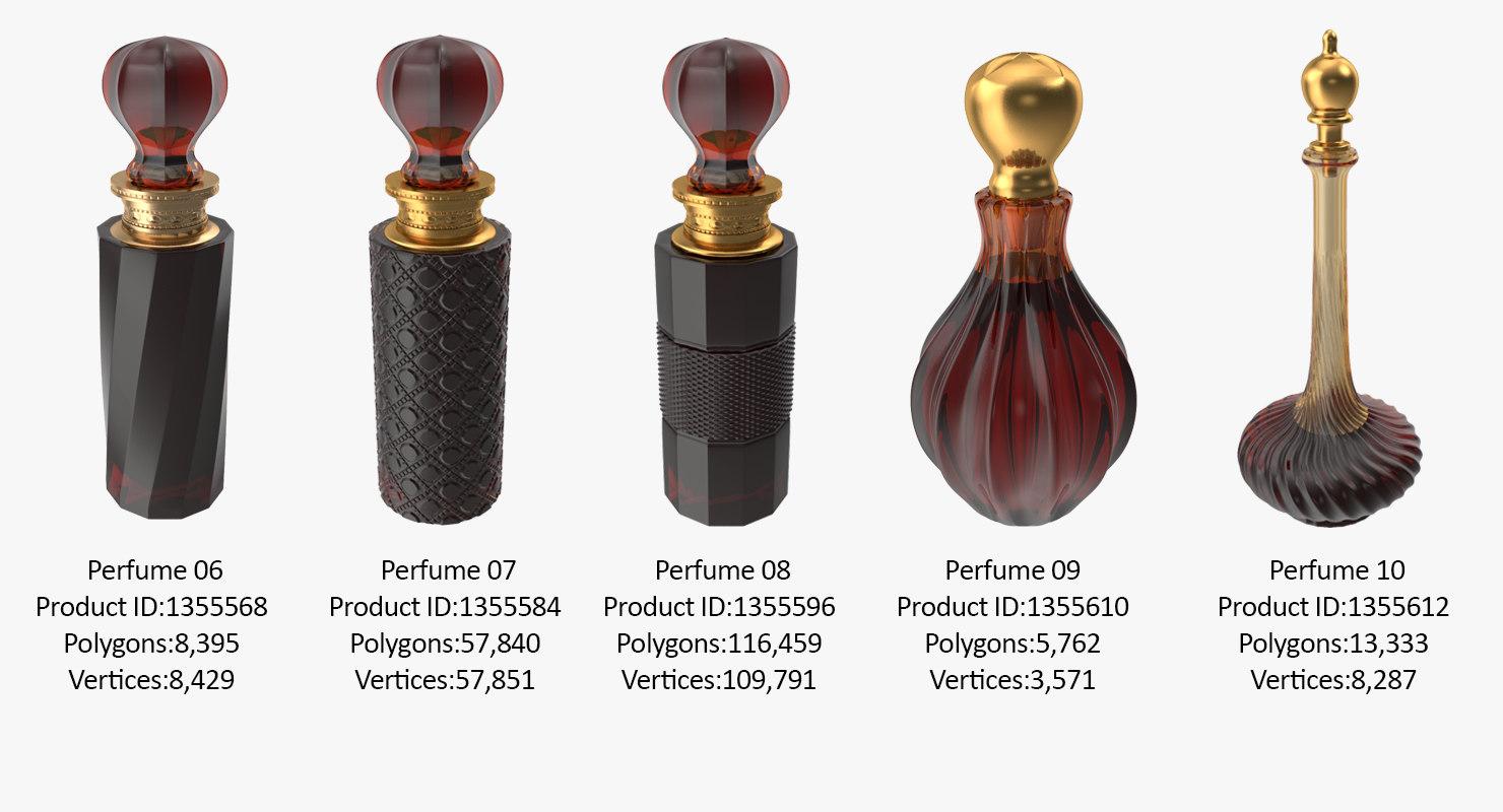 3D photorealistic perfume bottle