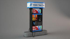 gas pomp 3D model