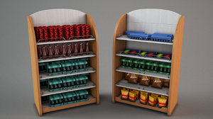 market shelf group 3D model
