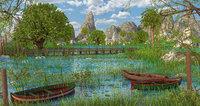 3D swamp lake