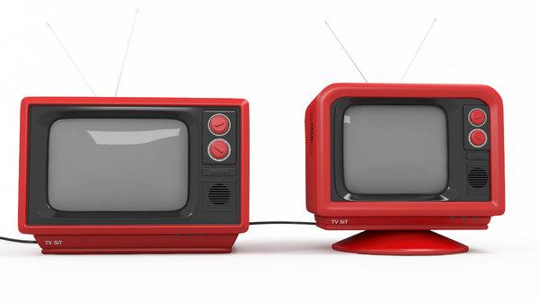 retro television tv 3D model