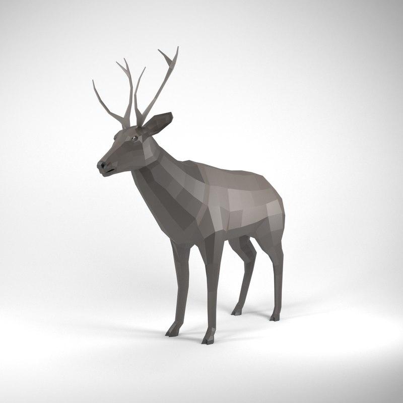 3D deer animation model