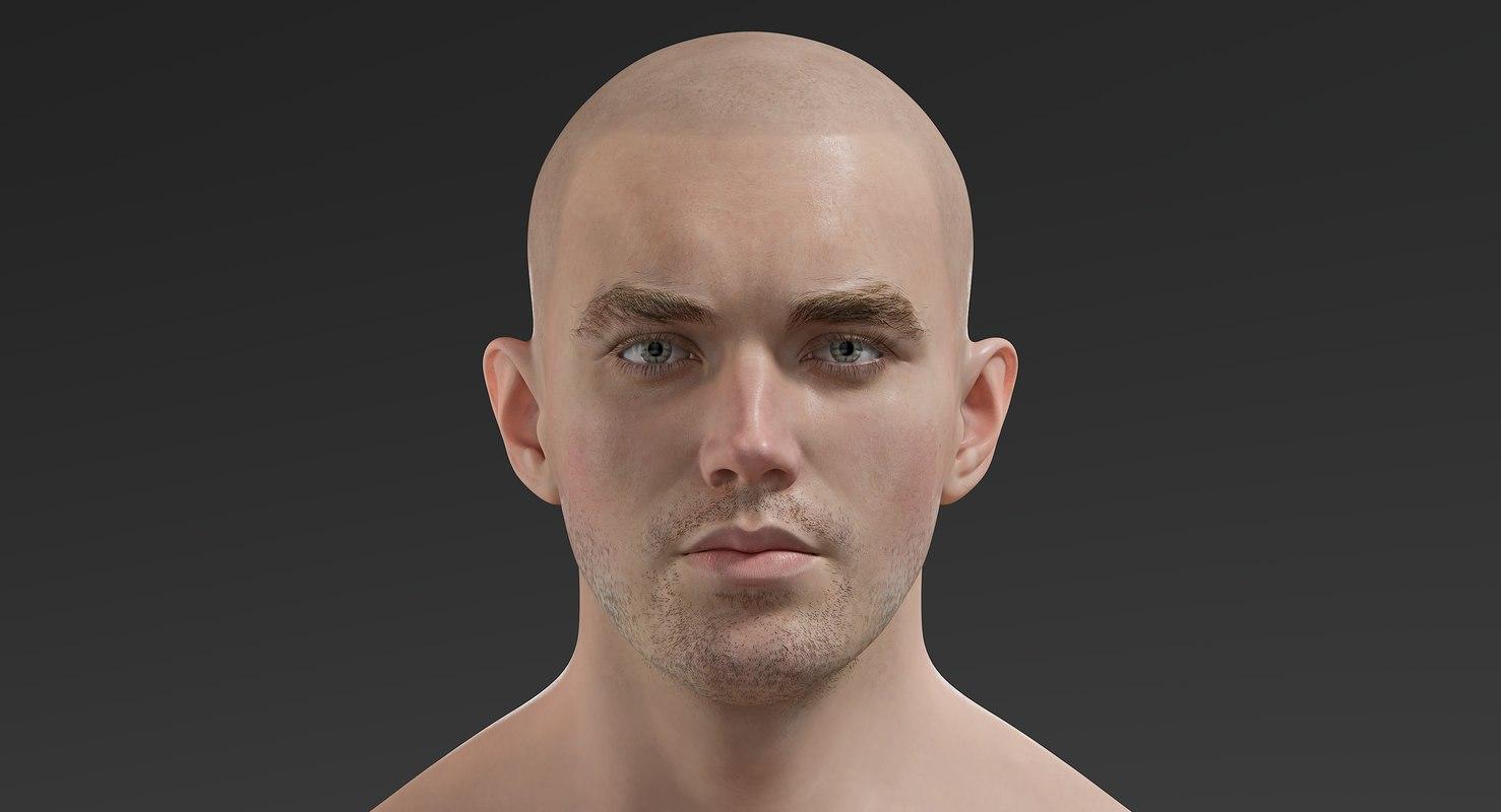3D man eyes