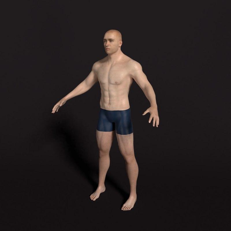 man realistic 3D model