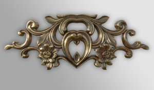 3D baroque ornament