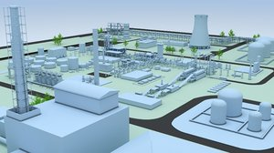 3D generic layout factory industrial model
