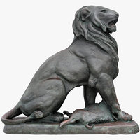 3D lion prey sculpture