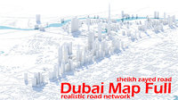 dubai city road 3D model