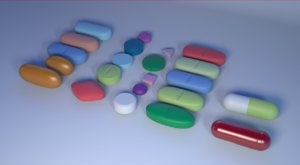 3D medicine tablets capsules