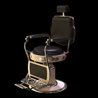 barber chair 3D model