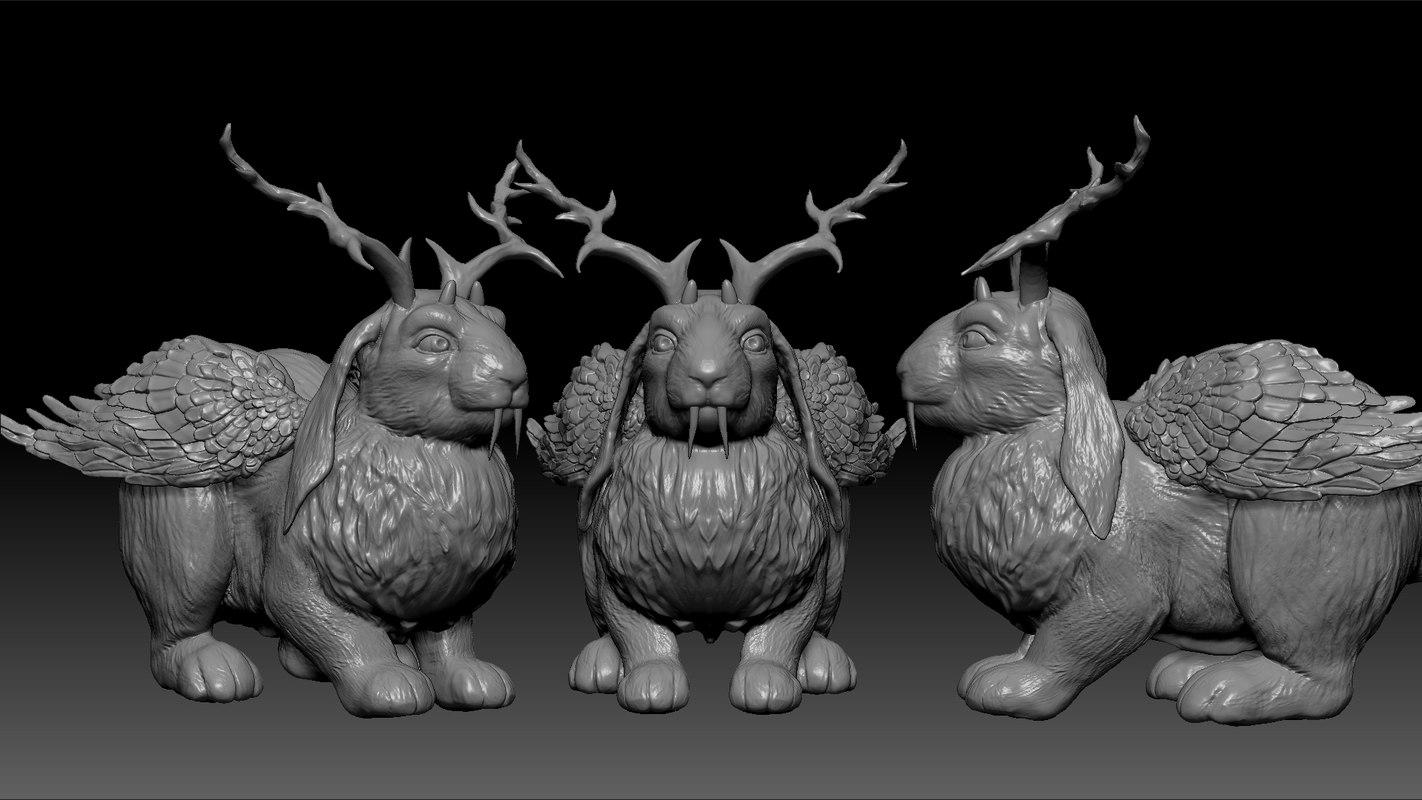 wolpertinger zbrush 3dprint 3D