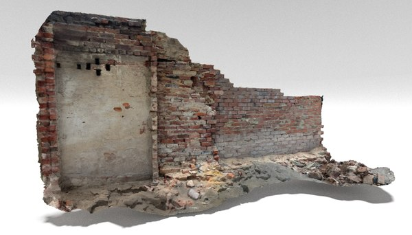 old brick wall 3D model
