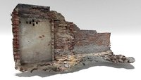 old brick wall 3D model