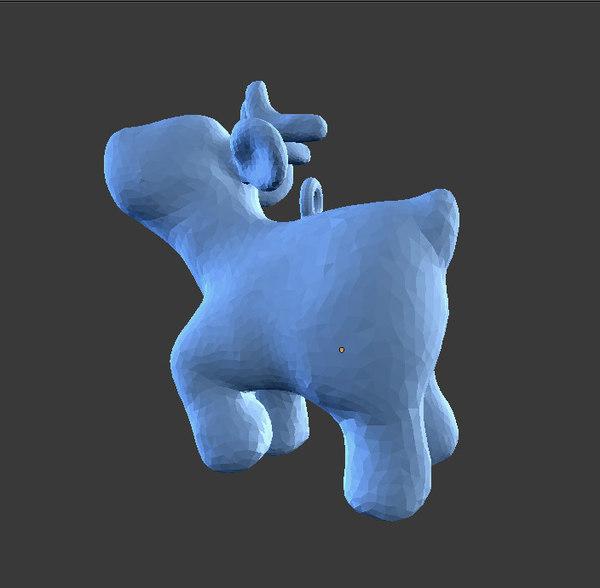 3D deer cartoon print christmas tree