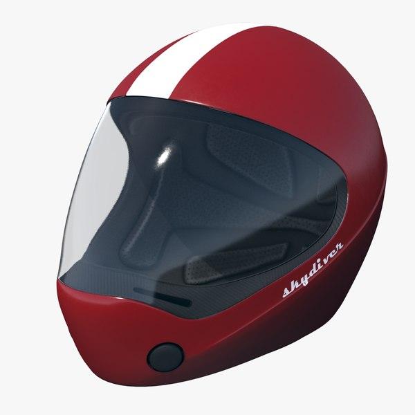 generic skydiving helmet 3D model